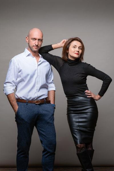 Dr. Евгения Карлин и Максим Карлин